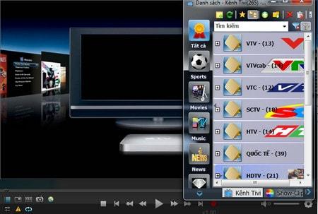 Phần mềm xem tivi Viet-SimpleTV