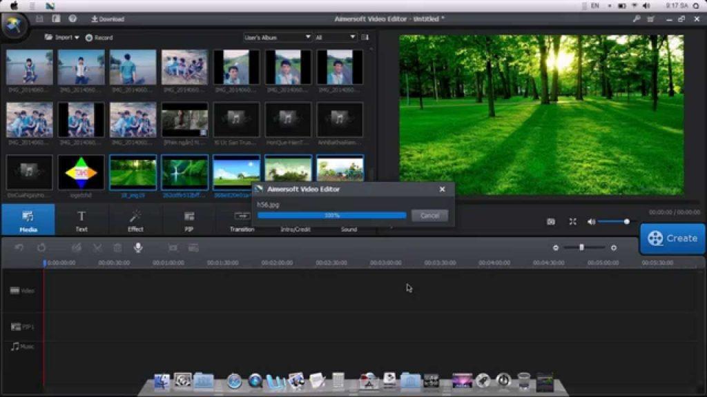 phần mềm chỉnh sửa video Aimersoft Video Editor