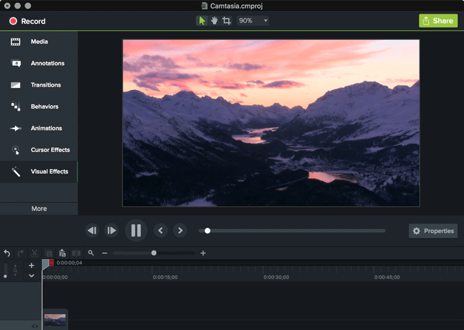 phần mềm chỉnh sửa video Camtasia Studio