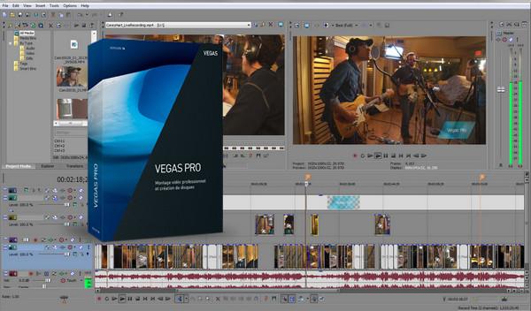 phần mềm chỉnh sửa video Magix Vegas Pro
